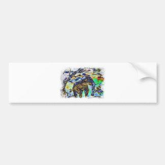 Clouded-Colour- Elephant Bumper Sticker