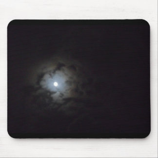 clouded moon mouse pad