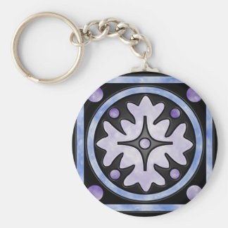 Clouded Stained Glass Key Chain