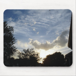 Clouds (04) - Rays of light Mouse Mats