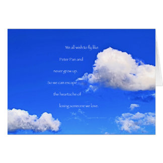 """Clouds #59"" with poem: Peter Pan Card"