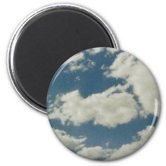 Clouds 6 Cm Round Magnet