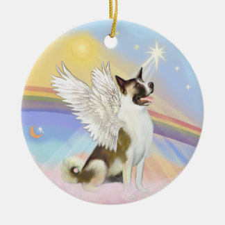 Clouds - Akita Angel Ceramic Ornament