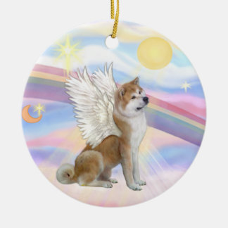 Clouds - Akita Inu Angel Ceramic Ornament