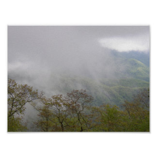 Clouds Amidst the Blue Ridge Mountains, NC Poster