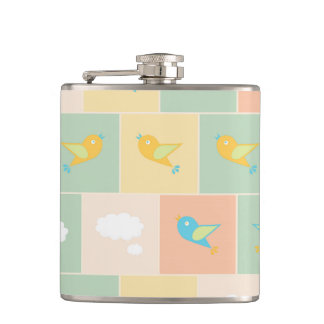 Clouds and birds flasks