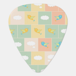 Clouds and birds plectrum