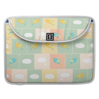 Clouds and birds sleeve for MacBook pro