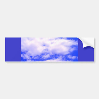 Clouds and Clear Blue Sky Bumper Sticker