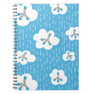 Clouds And Methane Molecules Blue Chemistry Geek Notebook