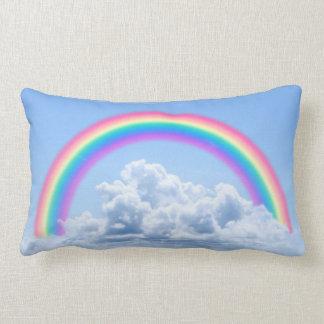 Clouds And Rainbow Lumbar Cushion