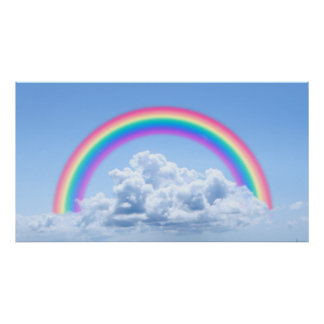 Clouds And Rainbow Poster