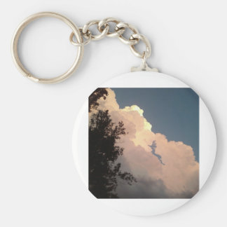 Clouds And Sky Basic Round Button Key Ring