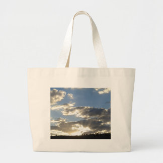 Clouds And Sun Large Tote Bag