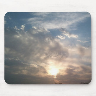clouds and sun mouse pad