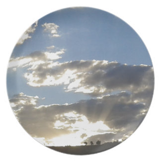 Clouds And Sun Plate