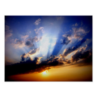 Clouds and Sunshine Poster