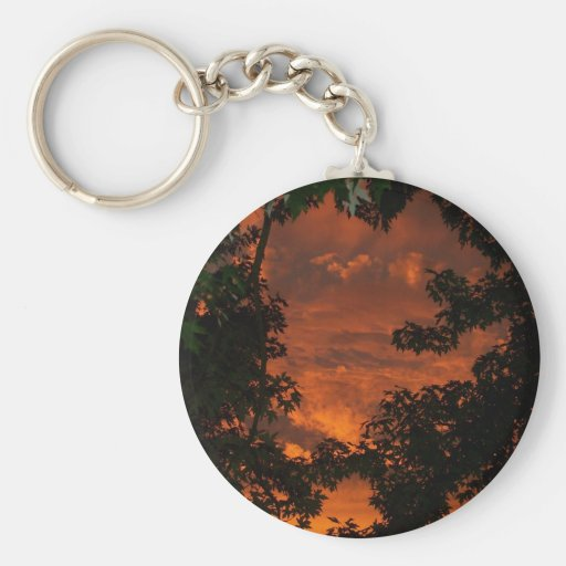 Clouds and Treetops Keychains