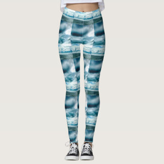 Clouds and waves leggings