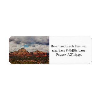 Clouds as they roll into Sedona Return Address Label