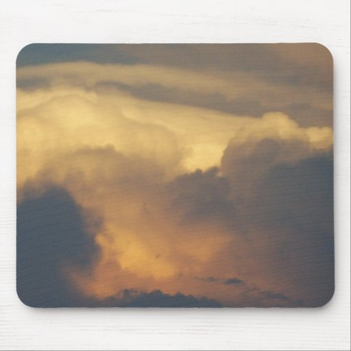 Clouds at Sunset Cloud Photography Gold Clouds Mousepads