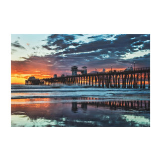 Clouds at the Oceanside Pier Canvas Print