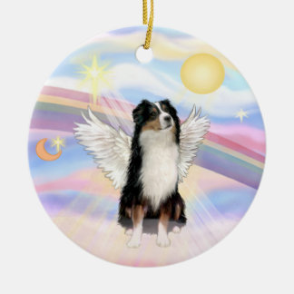 Clouds - Australian Shepherd Angel (tri) Ceramic Ornament