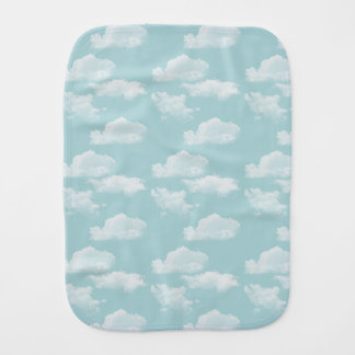 Clouds Baby Burp Cloth