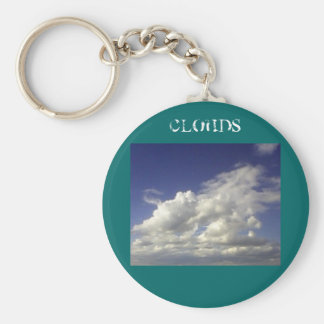 Clouds Basic Round Button Key Ring