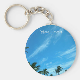 Clouds, Basic Round Button Key Ring