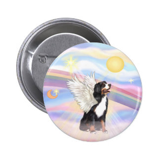 Clouds - Bernese Mountain Dog Angel 6 Cm Round Badge
