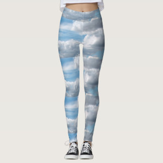 Clouds Billowing in the Blue Sky Leggings