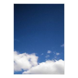 Clouds Blue Sky Invitation