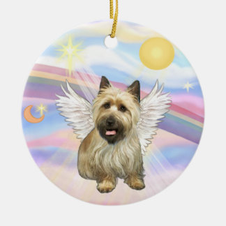 Clouds - Cairn Terrier (black mask) Ceramic Ornament