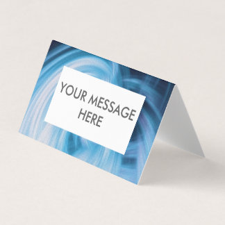 Clouds card with editable text