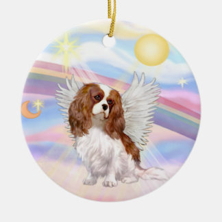 Clouds - Cavalier King Charles (blenheim) Ceramic Ornament