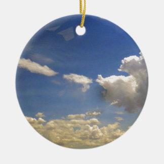 Clouds Ceramic Ornament