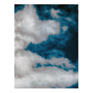 Clouds changing postcard
