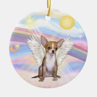 Clouds - Chihuahua (light red) Ceramic Ornament