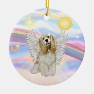 Clouds - Cocker Spaniel (buff) Ceramic Ornament