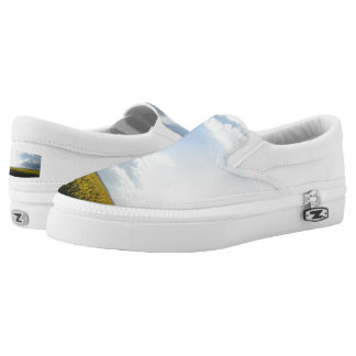 Clouds Custom Zipz Slip On Shoes,  Men & Women Printed Shoes