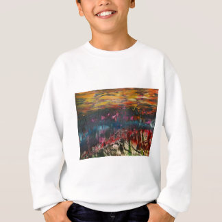 Clouds drifting over landscape sweatshirt