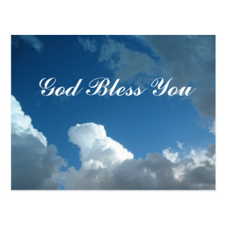 clouds God Bless You Postcard