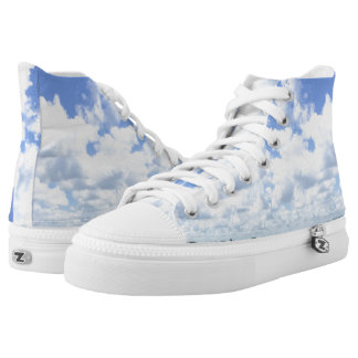 Clouds High Tops Printed Shoes