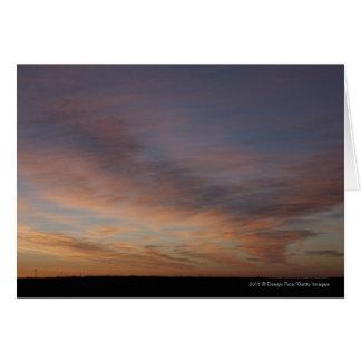 Clouds In An Orange Sky At Sunrise Card