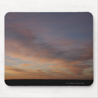 Clouds In An Orange Sky At Sunrise Mouse Pad