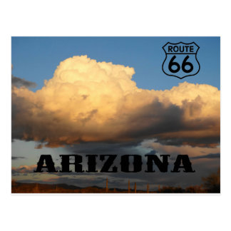 Clouds in Arizona sauaro cactus Route 66 Postcard