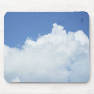 Clouds in Bright Blue Sky Mouse Pad