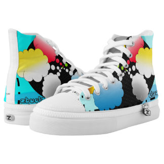 CLOUDS IN COLOR HIGH TOPS, i Art and Designs High Tops