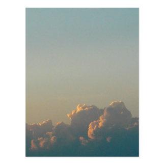 clouds in romania postcard